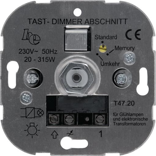 Tast-Phasen-Abschnittsdimmer 20 – 315 VA